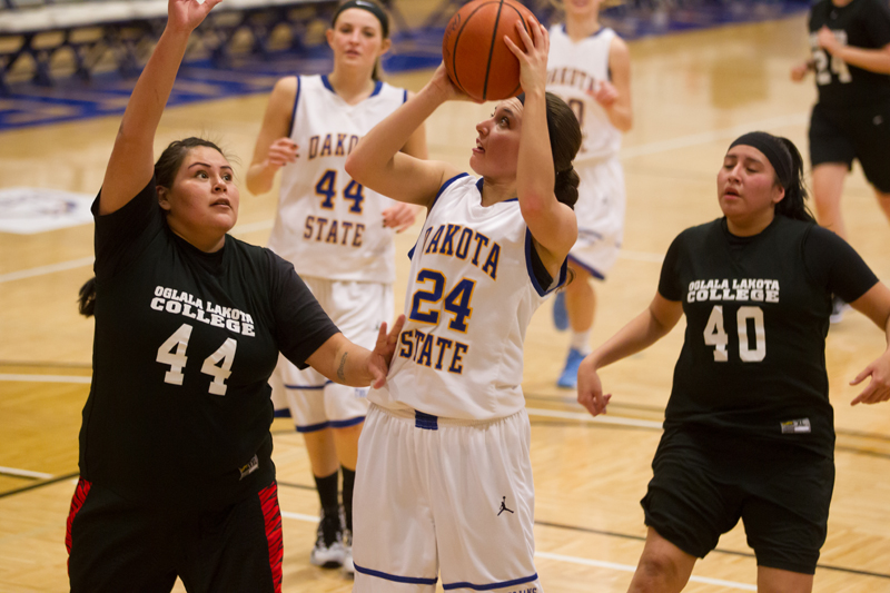 26th DSU Lady T's Basketball vs. Oglala Lakota (S.D.) Photo